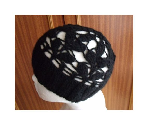 Knitting crochet autumn winter hat lace and warm by MyLaceSpace, $38.00