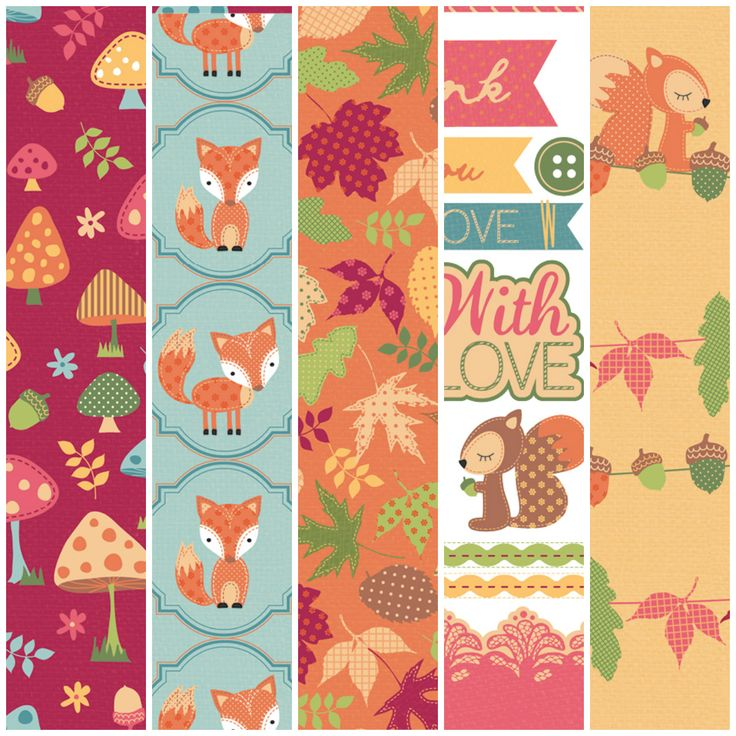 Download these free printable Autumn Friends papers to use in your card making and scrapbooking!