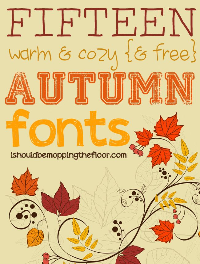 fifteen free fall fonts - Good Halloween Font