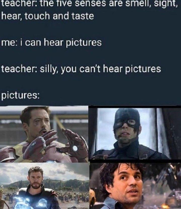 If You Can T Hear These Pictures Then You Aren T A Marvel Fan Marvel Quotes Funny Marvel Memes Marvel Fan