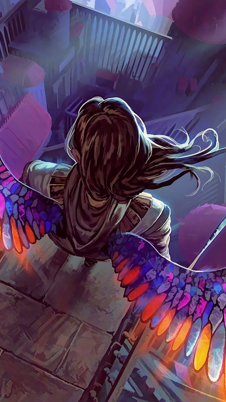Colorful Wings Fantasy Angel 720x1280 Wallpaper Mobile Wallpaper Wallpapers For Mobile Phones Wallpaper