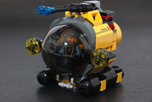 Lego Mini-Submarine by 713 Avenue, via Flickr. We'll take 10, life size please.