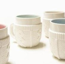 these cups wear clothes, keep warm,wow~~~ cute