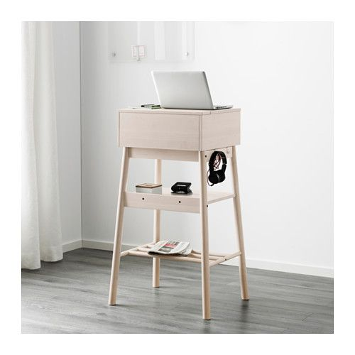 standing desk - I would do this in natural or in white (natural will match legs to citron couch) or white to blend in with walls and not stand out.) I would put this next to couch on wall opposite window