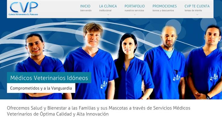 WebSite, Desarrollo de Imagen Corporativa, Manual de Identidad.  Clínica Veterinaria El Poblado  http://www.clinicaveterinariapoblado.com/