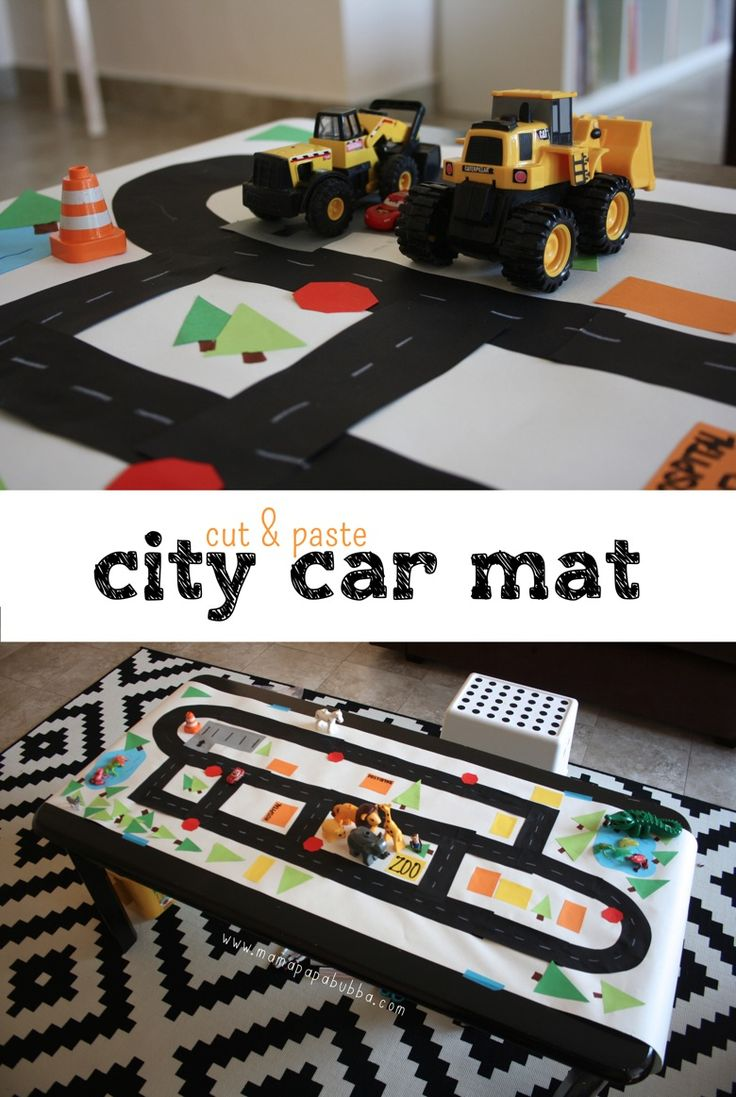 Cut and Paste City Car Mat | Mama Papa Bubba
