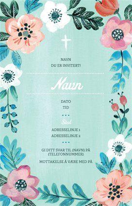 Design for Invitasjoner og kort i kategorien Dåp og navnefest, Baby, Invitasjoner og kort for Dåp og navnefest, Baby | Vistaprint