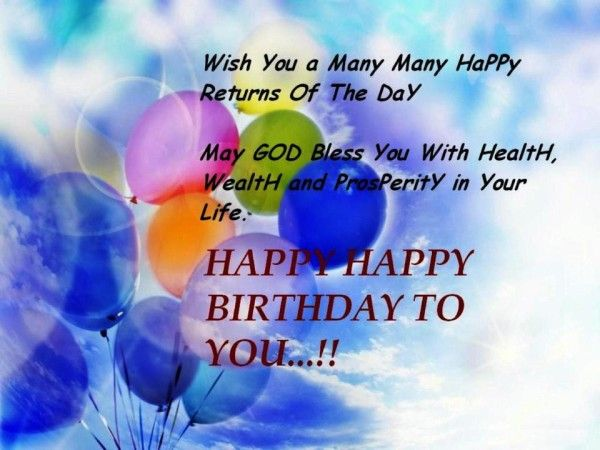 May God Bless You With Health Wealth Wb0028 With Images Happy