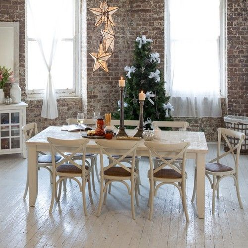 Florence 2100 Dining Package with French Cross Chairs (Table:  2100W x 1050D x 775H mm; Chairs: 460W x 420D x 870H mm) RRP $1,720