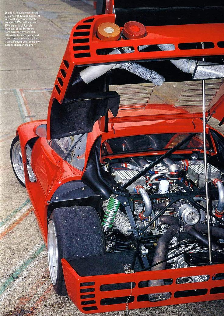 Ferrari 288 GTO Evoluzione (1985)build on it after the F40