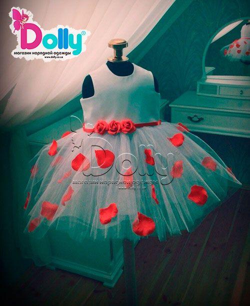 Платье Лепестки на ветру