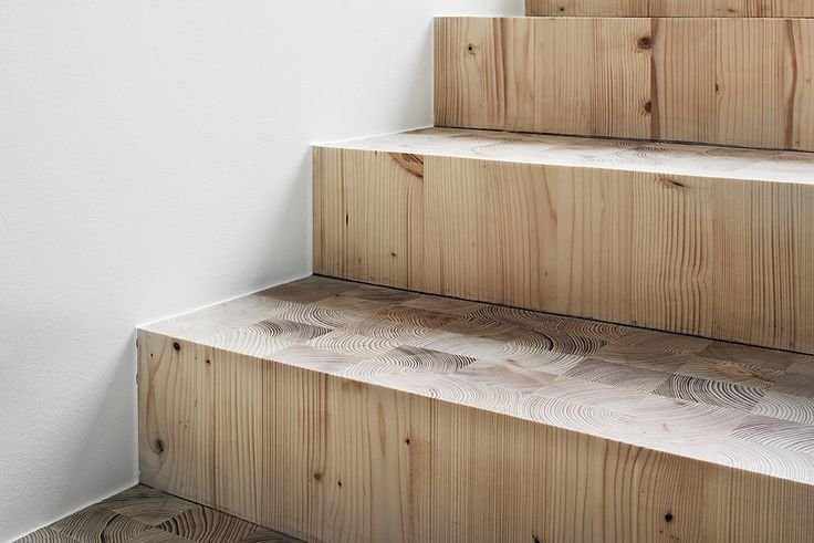 wood block stairs