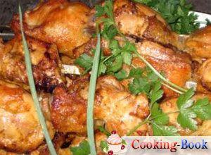 Рецепт: Куриный шашлык, маринованный в минералке