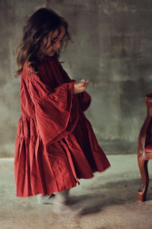 BIEN A BIEN  I  CANCAN DRESS  stone red