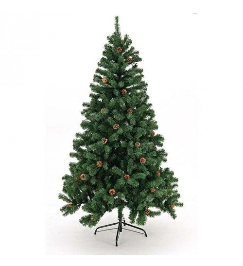 XMAS TREE IN GREEN COLOR W_PINECONE H-210 (1274 tips)