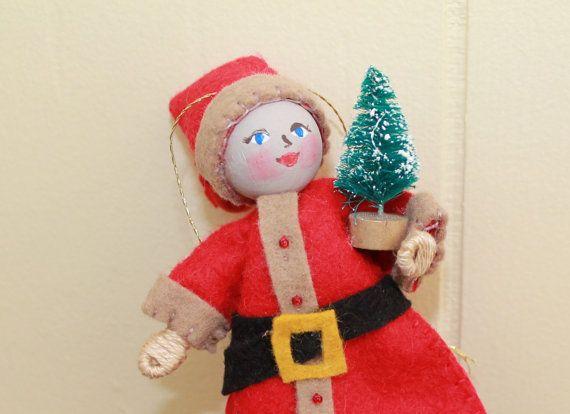 Christmas Ornament Art Doll Santa Claus Santa has by WhisperingOak
