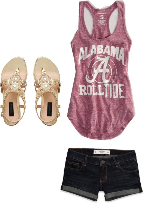"""roll tide"" by cows0204 ❤ liked on Polyvore"