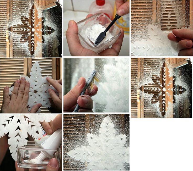 Con pasta dental, agua y un cepillo podemos dar un nuevo look a nuestras ventanas!
