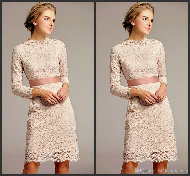 Modest Mother Of The Bride Dresses Sheath Knee Length Long Sleeved Lace Bridesmaids Dresses Young Wedding Guest Cocktail Party Gown Mother Of The Bride Dresses Beach Wedding Mother Of The Bride Dresses Ireland From Weddingfactory, $103.56| Dhgate.Com