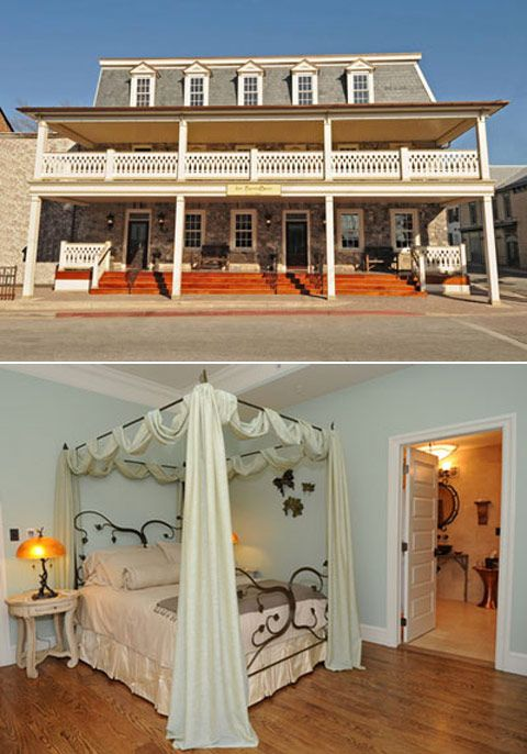 "Inn BoonsBoro, Frederick, Maryland     Prolific romance novelist Nora Roberts opened this hotel in 2009, and true to her trade, each of its eight rooms are inspired by famous literary couples ""who found their happy endings"" — from Jane and Rochester to Titania and Oberon to Wesley and Buttercup (!). Each room comes with a copy of the book in question."