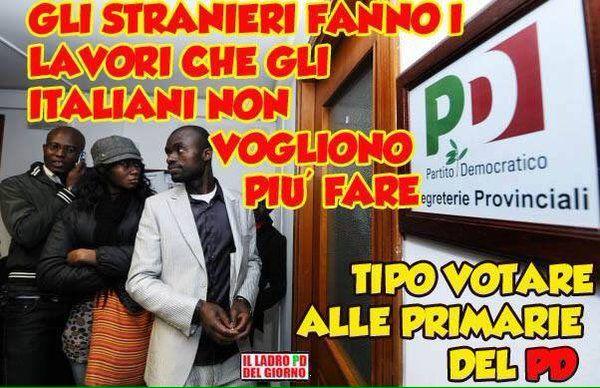il popolo del blog,: gli stranieri fanno lavori che noi italiani non fa...