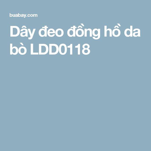 Dây đeo đồng hồ da bò LDD0118