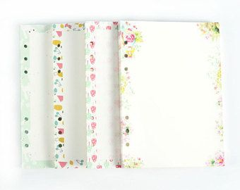 Refill Pages, Journal, Ring Binder, Filofax, Size A6 & A5, Pre-Punched Paper