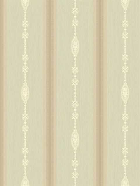 Green and Brown Striped Wallpaper, SBK24030