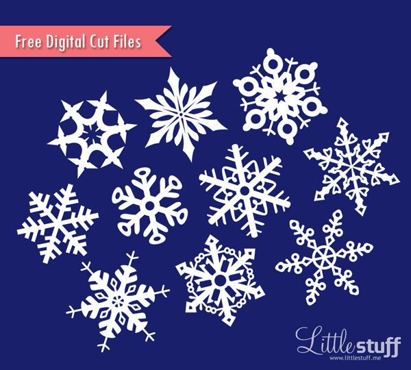 Free Snowflakes Digital Cut Files, SVG and Silhouette ...