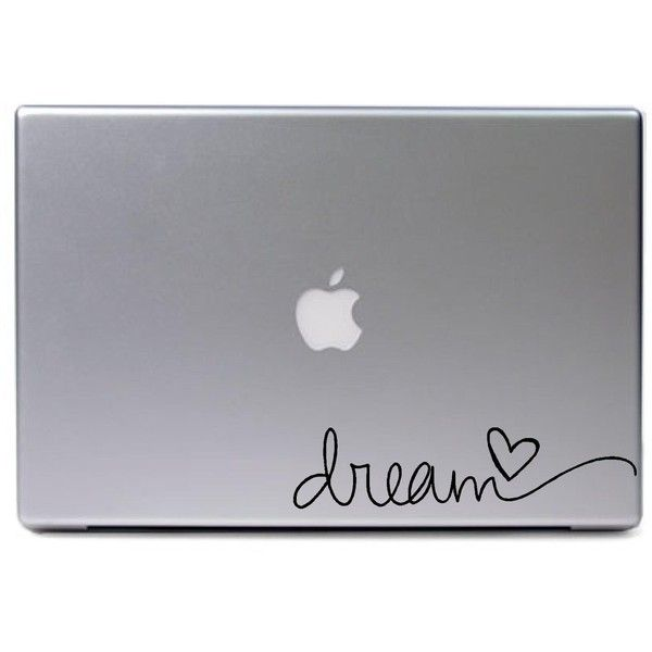 Laptop MAC Dream apple macbook funny decal matte black skins stickers ($3.99) ❤ liked on Polyvore