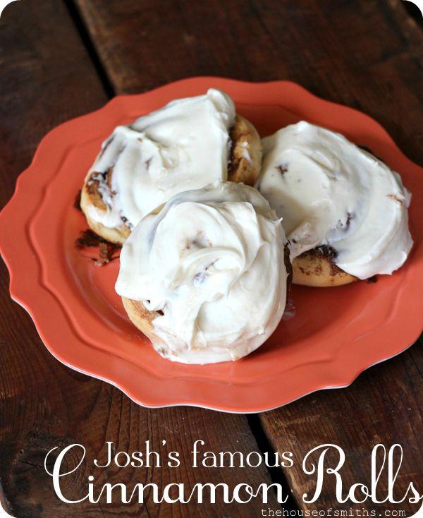 The Best Cinnamon Rolls with Cream Cheese Frosting. #recipes #dessert #cinnamonrolls #thehouseofsmiths.com