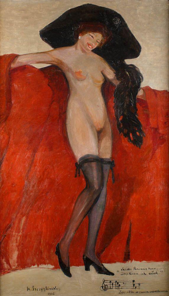 HENRYK SZCZYGLIŃSKI (1881 - 1944) LORIETTA W SWOIM REPERTUARZE, 1905 olej, płótno / 138,8 x 91 cm