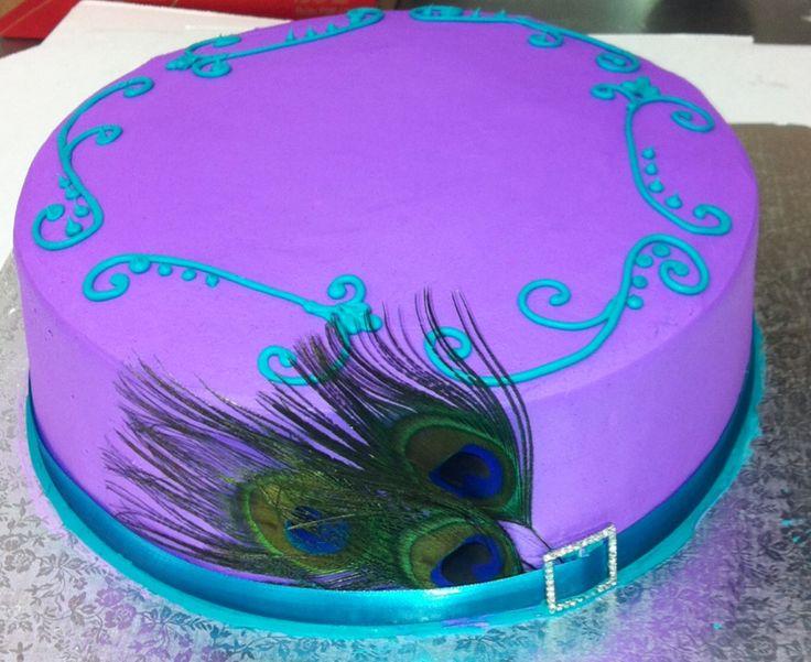 peacock themed baby shower cake i made angela h cakes