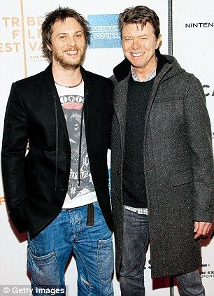 Duncan and David at the New York premiere of Moon in April 2009