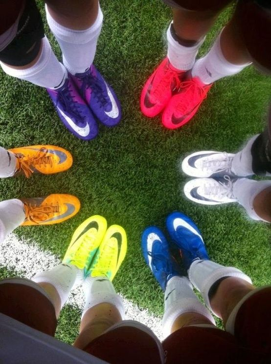 Nike soccer boots. Can I just have them all????? - I have a pair of black and white Nikes and really love soccer! :)