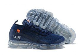 df0e6e021ac431 OFF-WHITE x Nike Air VaporMax 2. 0 Navy Blue AA3831 005 Mens Running Shoes  Summer Trainers