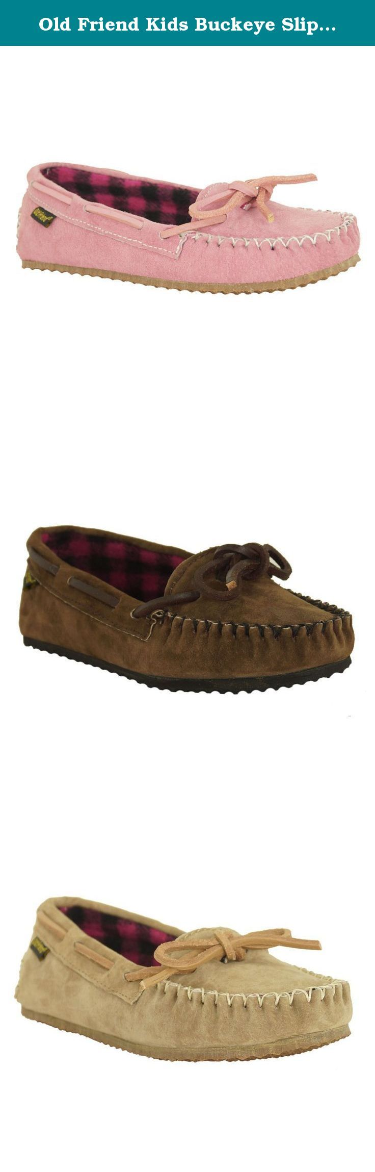 Old Friend Kids Buckeye Slippers. Little feet step out in style in the Old Friend Kids Buckeye Slippers. These comfortable plaid-lined loafers come in stylish pink and black, and feature a long-lasting leather upper and TPR rubber sole. Kids sizes only. About Old Friend Slippers Since 1981, Old Friend Slippers has developed a line of slippers unmatched by competitors. Their process produces an almost silk-like feel to their sheepskin. They've removed all textile bindings in favor of…