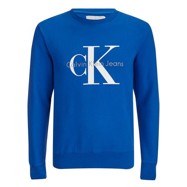 Calvin Klein Men's Crew Neck Sweatshirt - Surf The Web (8400 RSD) ❤ liked on Polyvore featuring men's fashion, men's clothing, men's hoodies, men's sweatshirts, blue, mens crew neck sweatshirts, mens sweatshirts, mens sweatshirts and hoodies and mens crewneck sweatshirts