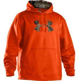 Orange camouflage hoodie