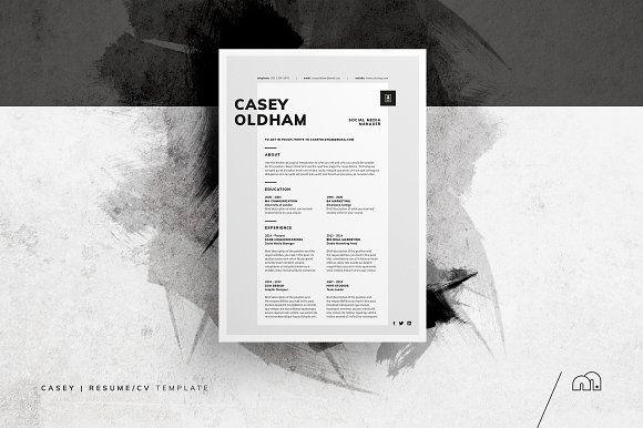 Resume/CV - Casey by bilmaw creative on @creativemarket