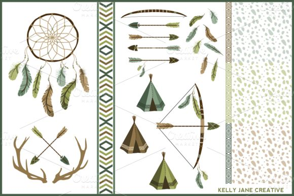 Check out Arrows Antlers & Feathers Vector by Kelly Jane Creative on Creative Market