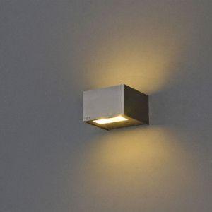 Wandlamp Ayer LED rvs - Badkamerverlichting - Verlichting per ruimte - Lampenlicht.nl