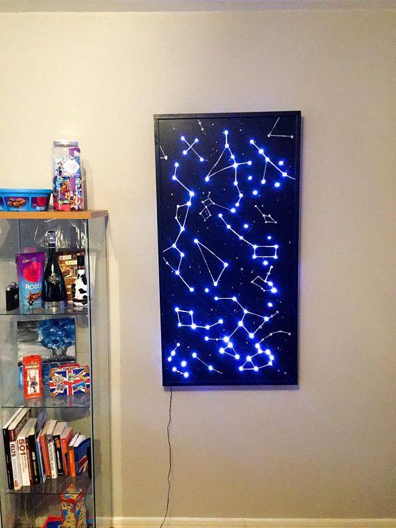 Constellations Wall Art Led Mood Lights Diy Woodworking Led Lighting Diy Constellation Wall Art Diy Projects