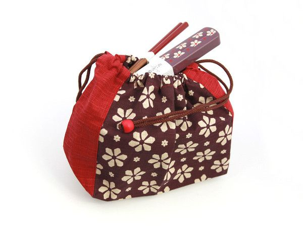 Hanairo Kinchaku Bag  available at bentoandco.com