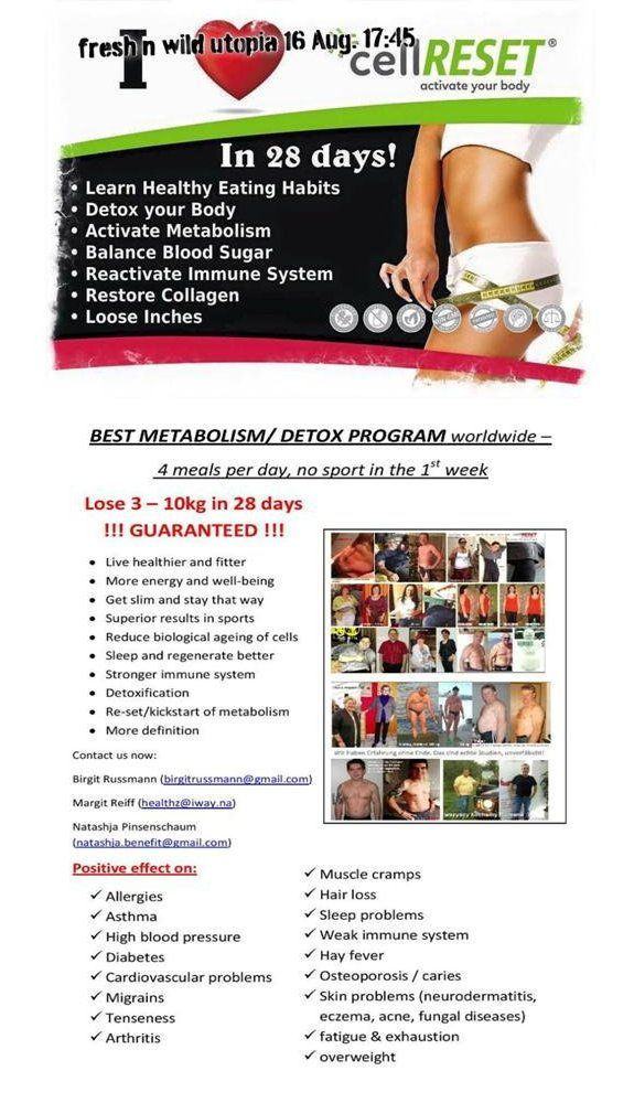 cellReset - Info Session 16 August 2016 - Best Metabolism / Detox Program worldwide!