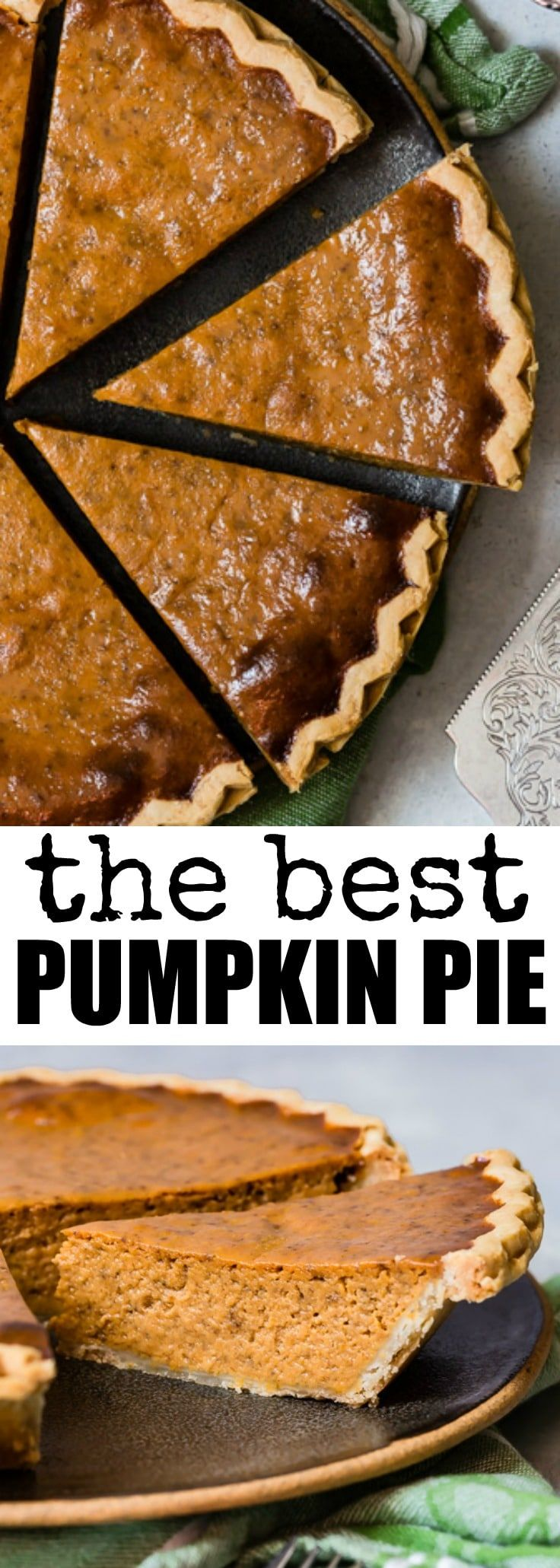 The Best Pumpkin Pie is the one that's easiest to make! Start with a store-bought crust, whisk together a tasty filling, and bake to pumpkin pie perfection.