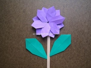 Modular Simple Flower Step by Step folding instructions