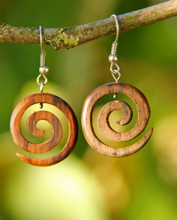 Dřevěné spirálky malé