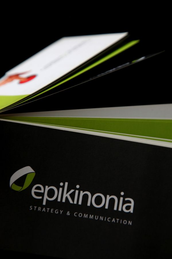 Brochure Design / Epikinonia by Angelos Theodoropoulos, via Behance
