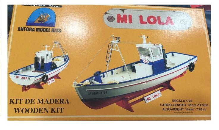 Oferta Kit maqueta barco madera Mi Lola. Hasta fin existencias, IndalChess.com Tienda de juguetes online y juegos de jardin